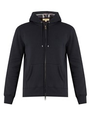 Burberry House Checked Hooded Sweatshirt Navy