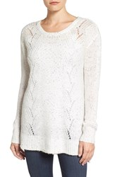 Nydj Women's Sequin Knit Tunic Vanilla