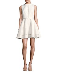 Cynthia Rowley Floral Textured Fit And Flare Dress Ivory