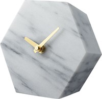 Cb2 Hex Marble Desk Clock