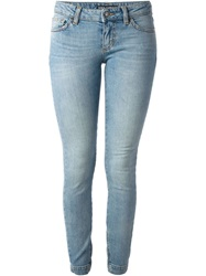 Dolce And Gabbana Washed Skinny Jeans Blue