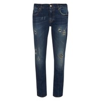 Vivienne Westwood Anglomania Women's New Billy Organic Jeans Distressed Blue