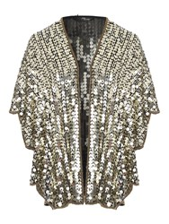 Jane Norman Gold Sequin Shawl Gold