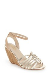 Seychelles Top Notch Knotted Wedge Sandal Metallic