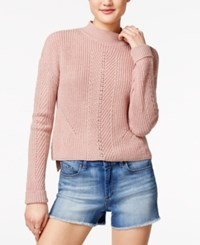 American Rag Textured High Low Sweater Only At Macy's Pale Mauve
