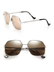 Cutler And Gross 55Mm Oversized Metal Sunglasses Dark Grey