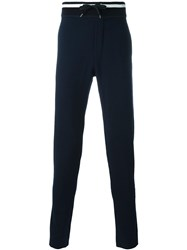 Ermanno Scervino Striped Waistband Sweatpants Blue
