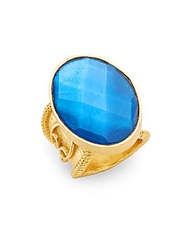 Stephanie Kantis Casablanca Faceted London Blue Crystal Ring