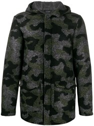 Daniele Alessandrini Camouflage Hooded Jacket Green