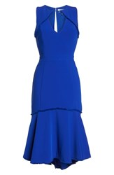 Harlyn Fringe Detail Trumpet Dress Cobalt