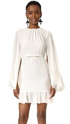 Giambattista Valli Cape Back Dress White