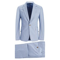 Vivienne Westwood Man Men's Microdogtooth Single Breasted Suit Blue