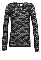 Cream Tamia Long Sleeved Top Pitch Black