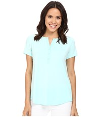 Nydj Pleat Back Knit Top Aqua Salt Women's T Shirt Green