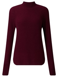 John Lewis Collection Weekend By Funnel Neck Cashmere Jumper Burgundy