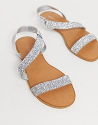 London Rebel Embellished Sandals Beige