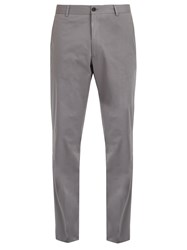 Kilgour Slim Fit Cotton Blend Chino Trousers Grey