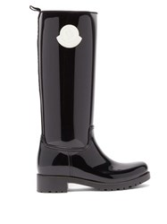 Moncler Ginger Rubber Wellington Boots Black