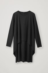 Cos Long Sleeved Layered Dress Black