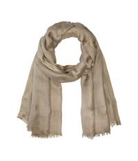 Love Quotes Linen Lurex Eyelash Scarf Beechwood Scarves Gray