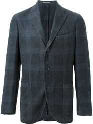 Boglioli Checked Blazer Blue
