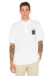 Fred Perry X Art Comes First Woven Collar Pique Shirt White