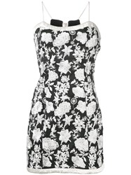 Alexis Embroidered Floral Dress Black