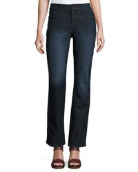 Nydj Marilyn Straight Leg Beaded Pocket Jeans Blue