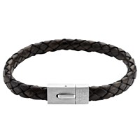 Under The Rose Personalised Men's Leather Bracelet 22Cm