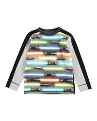 Molo Long Sleeve Raso Light Swords Jersey Tee Black Multicolor