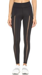 Michi Borderline Pocket Leggings Black