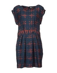 Tela Short Dresses Dark Blue