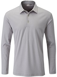 Ping Men's Lester Long Sleeve Polo Grey