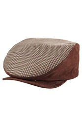 Etro Wool Flat Cap With Suede Multicolor