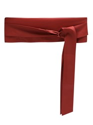 Olympiah Leather Belt Red