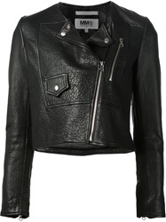 Mm6 Maison Margiela Side Zip Biker Jacket Black