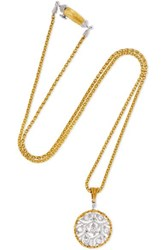 Buccellati Ramage 18 Karat Yellow And White Gold Diamond Necklace One Size