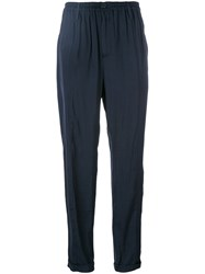 Wunderkind Silky Cropped Trousers Women Polyester 36 Blue