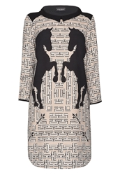 James Lakeland Horse Print Dress Black