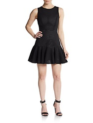 Saks Fifth Avenue Red Eyelet Fit And Flare Dress Black