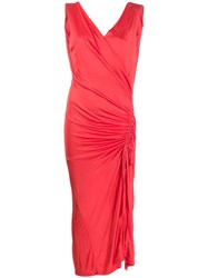 Each X Other Ruched Side Dress Red