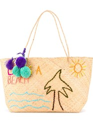 Mua Mua 'Life Is A Beach' Tote Nude And Neutrals