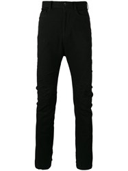 Julius Twisted Leg Flared Jeans Black