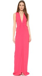 Thakoon Plunge Front Gown Pink