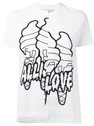 Stella Mccartney All Is Love Asymmetrical T Shirt White