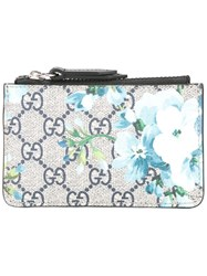 Gucci Gg Blooms Zip Pouch Blue