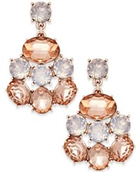 Charter Club Gold Tone Clear And Rose Crystal Drop Earrings Only At Macy's Rose Gold
