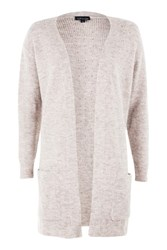 Topshop Oversized Pocket Cardigan Pale Pink