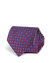 Bloomingdale's The Men's Store At Small Floret Medallion Classic Tie Navy Red