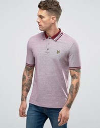 Lyle And Scott Oxford Pique Polo Eagle Logo In Burgundy Claret Jug Red